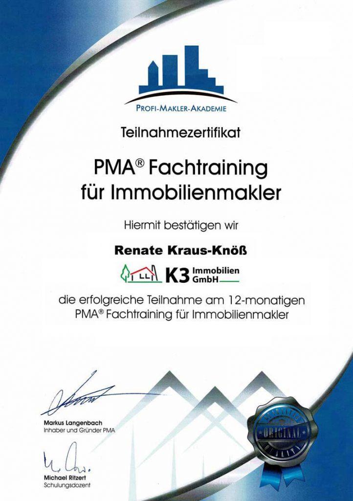K3 Zertifikat
